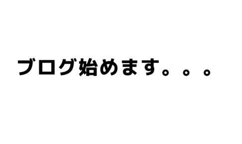 ブログ始めます。。。